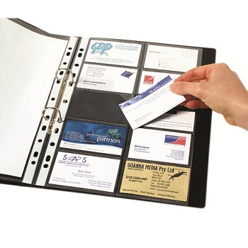 Business card books binders wallets conveniently stores protects and secures business cards in your binder reheart Image collections