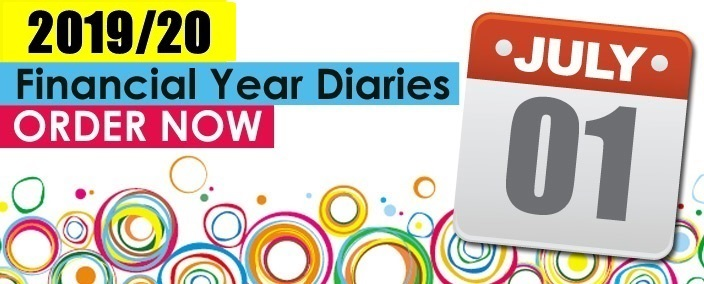 Order your 2019-20 Financial Year Diaries now
